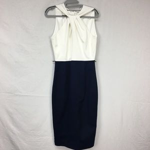Ted Baker Rayald Twist Neck Belted Pencil Dress